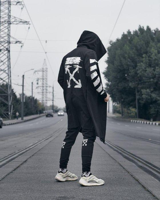 Мантия унисекс в стиле Off White черная (мантия, off white) Голованевск - изображение 1