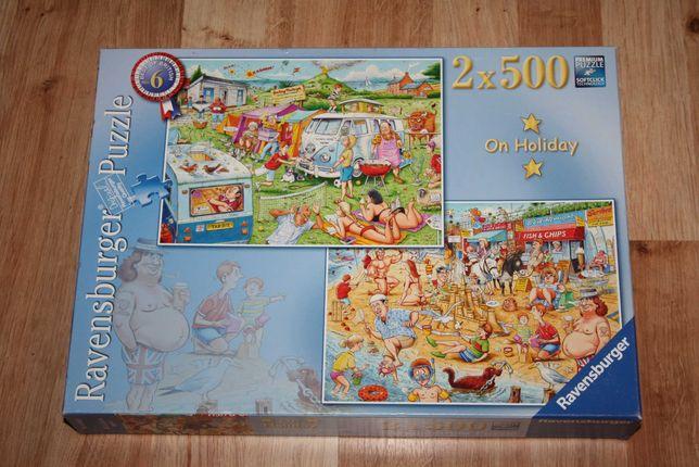 Puzzle Ravensburger 2 x 500 (1000) humorystyczne On Holiday