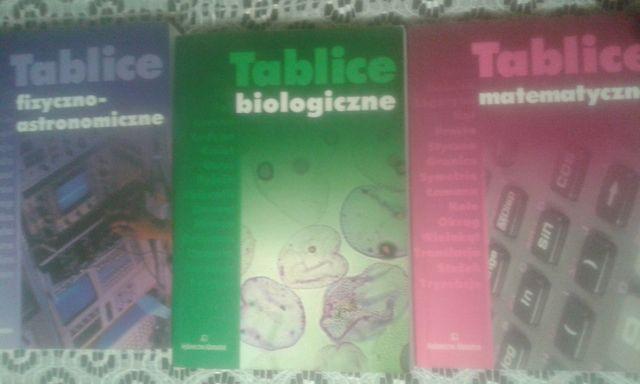Tablice biologiczne/fizyczne/matematyczne