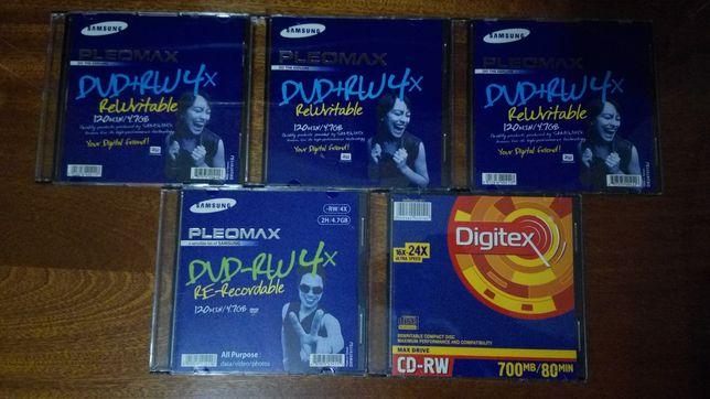 Диски dvd+rw, dvd-rw, cd-rw