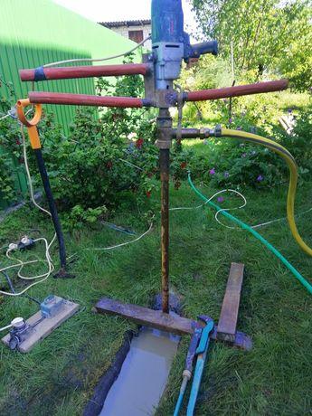 Бурение скважин на воду. Под поверхностный насос. Переносным оборудов.