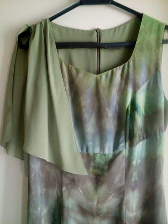 Платье нарядное шифоновое комбинированное