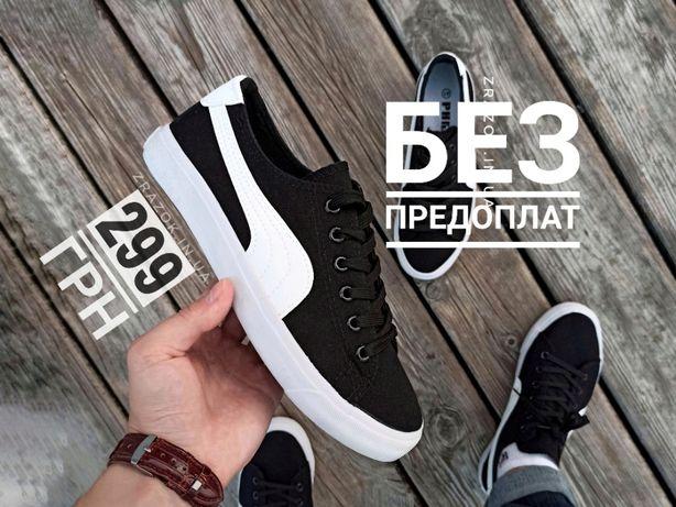 Черные кеды PUMA suede тканевые мужские кроссовки чорні кеди кросівки