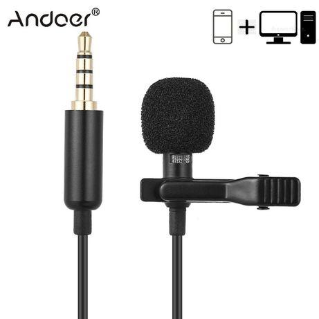 Петличный микрофон для смартфона и пк . Andoer ey-510a