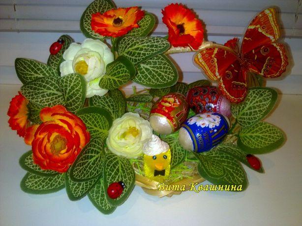 Подарки к Пасхе ручной работы корзины сувениры