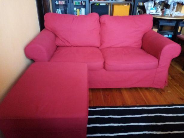 Ektorp sofa 2-osobowa plus podnóżek
