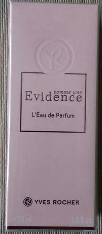 Perfumy Evidence 50 ml, Ives Rocher zafoliowane+ mleczko do  ciała!