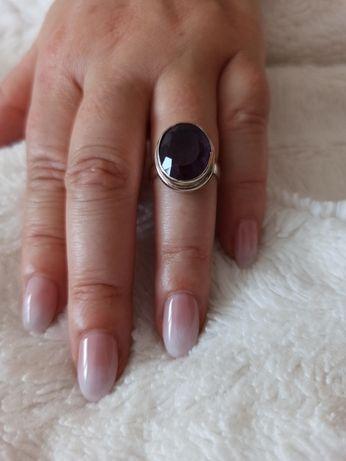 Anel prata pedra preciosa