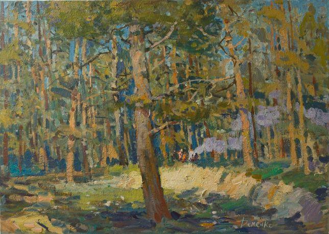 Anatoli Demenko. W lesie. 65x92 cm