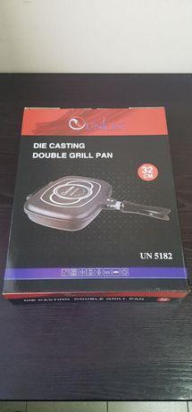 Сковорода для гриля и жарки двойная антипригарное покрытие на 32см