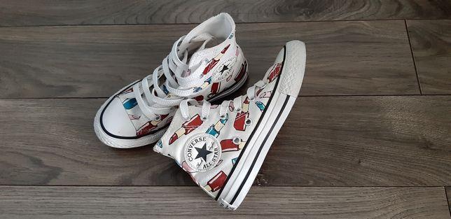 CONVERSE trampki sneakersy wysokie r.27 białe