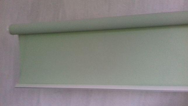 roleta okienna wewnętrzne szerokość 126,5cm seledynowa, jasna