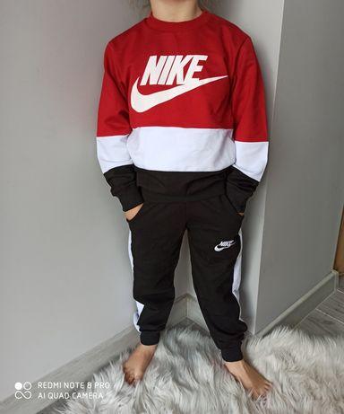 Dres 3 częściowy Nike bluza spodnie czapka 4kolory 98-146