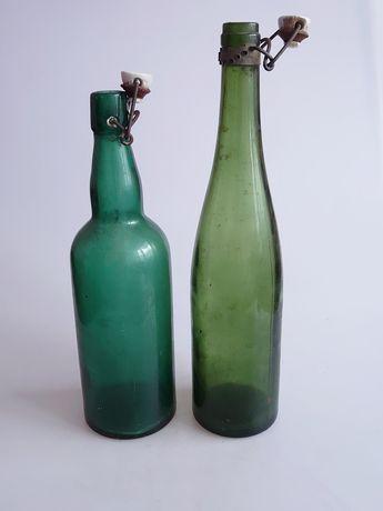 Dwie stare duże butelki cena za kpl.