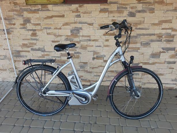 """Rower elektryczny FLAYER 28"""" PANASONICw BDB stanie ALU!!!"""