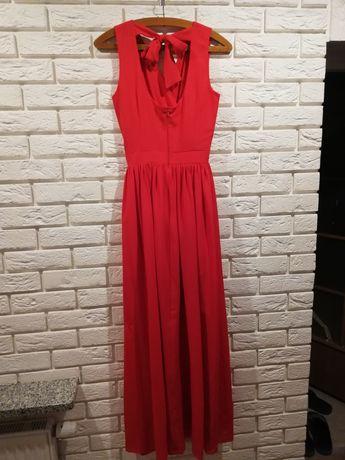 Sukienka maksi różowa