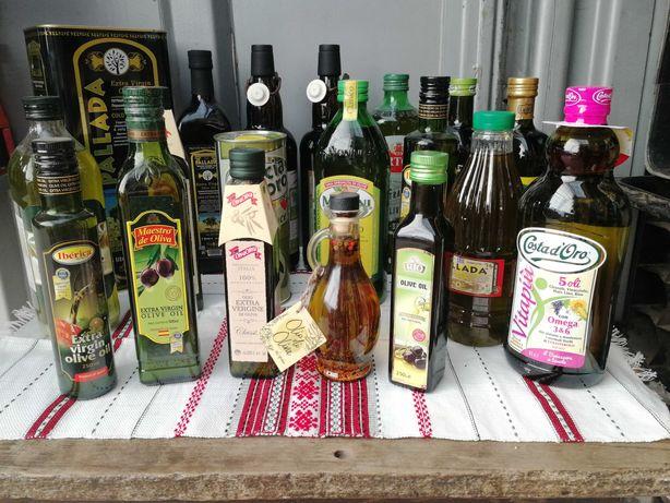 Масло оливковое, масло виноградной косточки Monini, Bertolli, Pallada