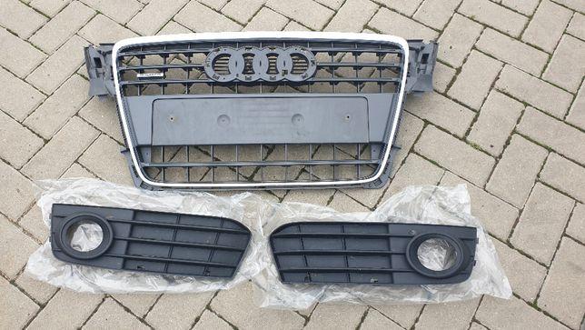 Atrapa grilla, atrapa zderzaka, zaślepka. Audi A4 B8 (2011r)