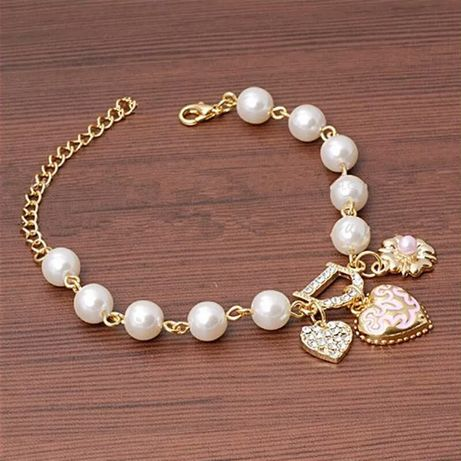 Bransoletka nowa z perłami perełkami