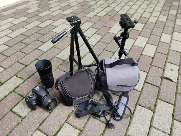 Canon EOS 1200D + 2 obiektywy + statyw + stabilizator steadycam