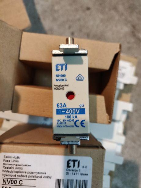 Wkładka bezpiecznikowa nożowa ETI 63A/50A