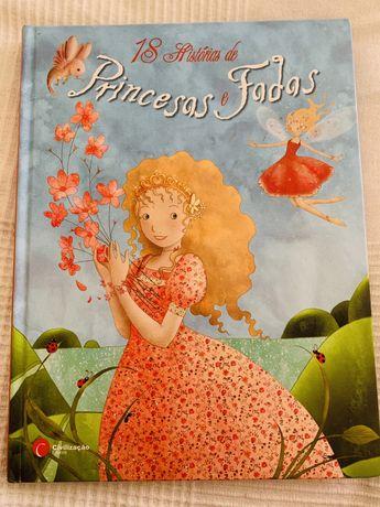 """Livro """"18 histórias de princesas e fadas"""""""