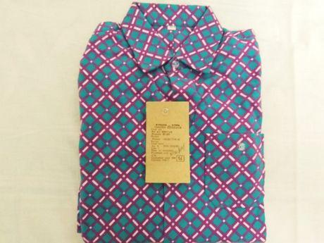 Детская фланелевая бирюзовая рубашка