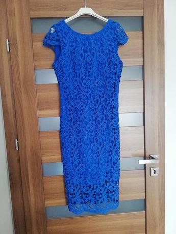 Sukienka Top Secret s 36 gipiura chabrowa komunia chrzest