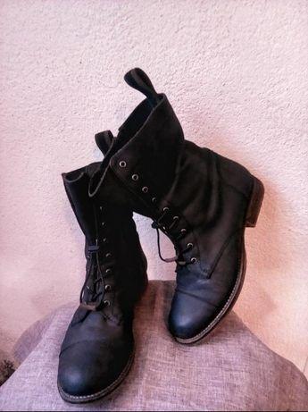 Натуральная кожа ботинки кежуал милитари берцы девичьи*