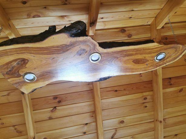 Drewniana lampa deska wisząca
