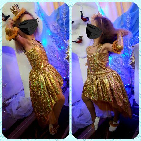 Новогодний костюм принцессы, золотой рыбки