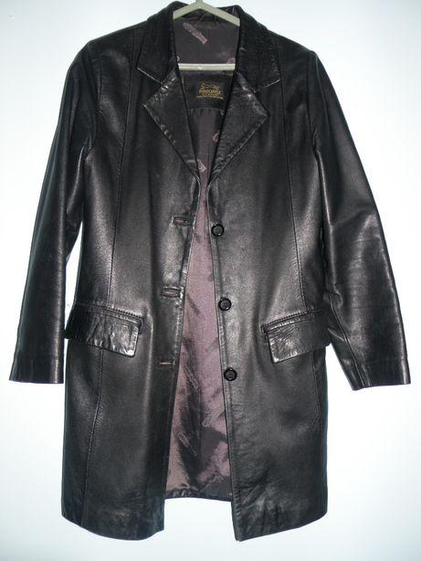 casaco de senhora em pele preto, modelo 3/4, como novo
