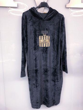 Sukienka welurowa zdobienia rozmiary