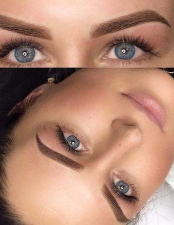 Татуаж, перманентный макияж (от 700грн) брови/губы/глаза, модели
