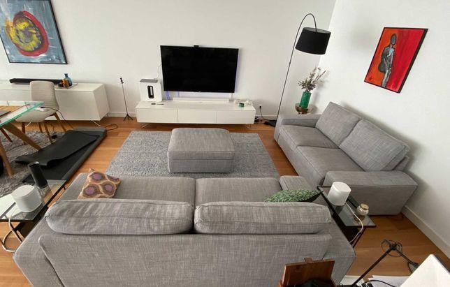 Sofas and footstool KIVIK set