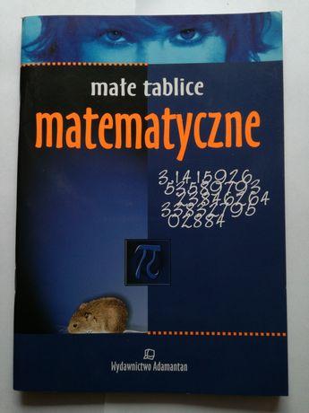 Małe tablice matematyczne szkoła 7-8 i średnia