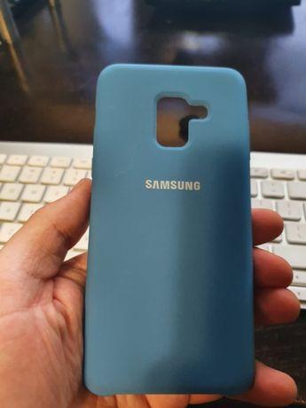 Etui silikonowe Samsung a5 2018 - niebieskie, oryginalne, nowe
