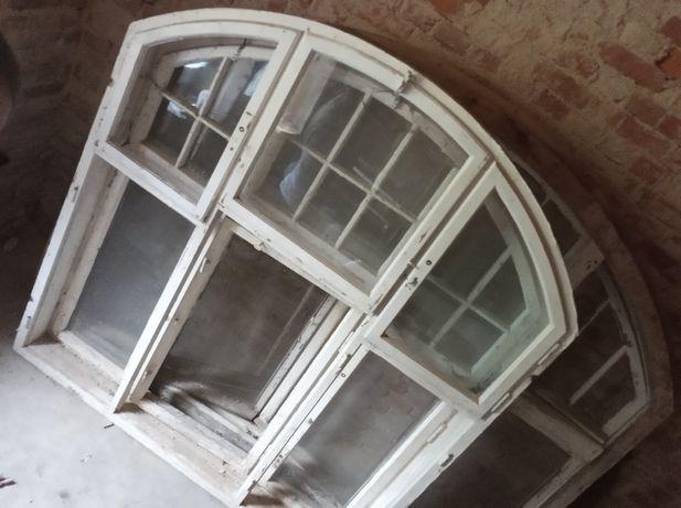 stare okno okna łukowate półokrągłe