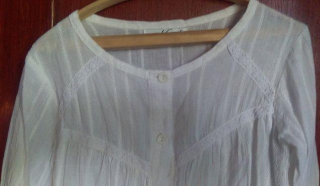 Блузка белая коттоновая Next для девочки 8 лет