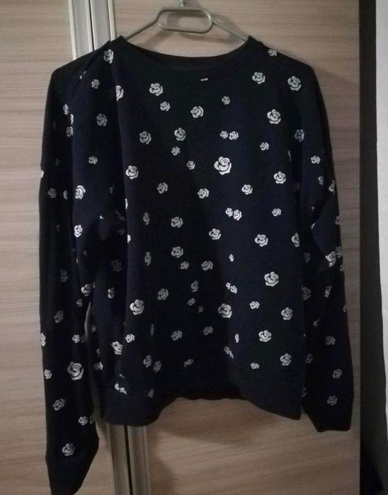 Granatwowa bluza w róże Drawsko Pomorskie - image 1
