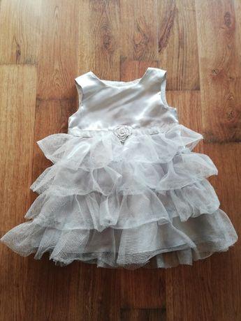 Sukienka szara dziewczęca bambini rozmiar 68
