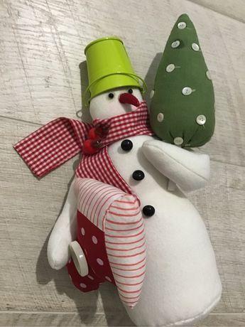 Снеговик игрушки ёлочные дождик