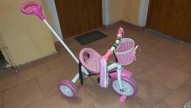 Rowerek dla dziecka w wieku ok 2+. Z rączką sterującą (przez rodzica)