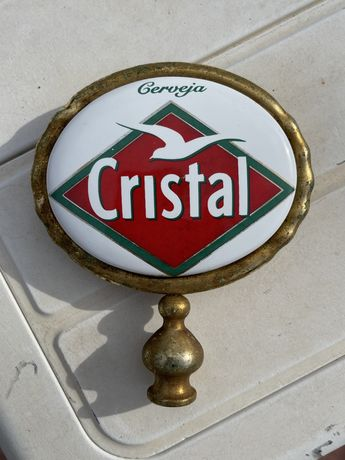 Torneira de Máquina de Imperial Cerveja Cristal em latão e porcelana