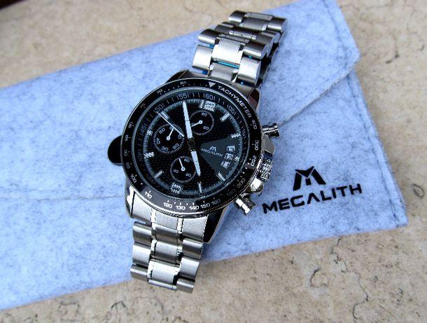 Кварцевий чоловічий годинник наручные часы MEGALITH під Rolex Tissot