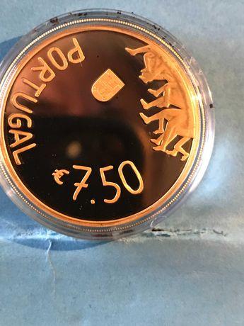 Moeda em ouro de 7,50€ da Rosa Mota