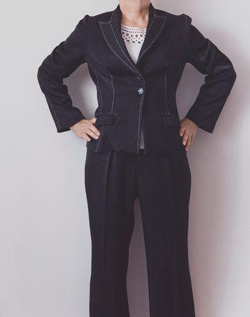 Garnitur nowy damski kostium M czarny