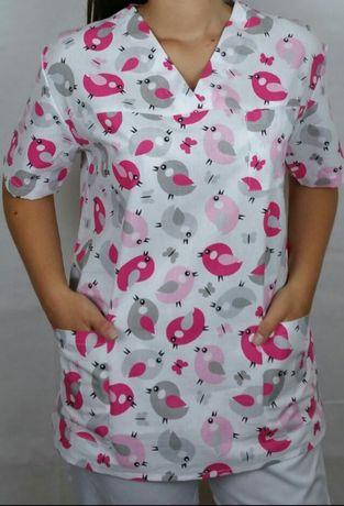 Bluzy medyczne bawełniane od XS - 7XL - sklep internetowy- Rabat 5%