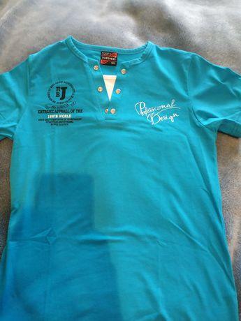 Koszulka chłopięca krótki rękaw t-shirt, elegancka i sportowa 140