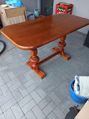 Stół drewniany rozkładany z regulacją wysokości